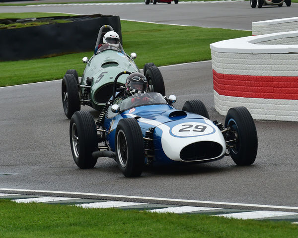 Eddie McGuire, Scarab Offenhauser, Richmond Trophy, Front engined Grand Prix cars, Formula Libre, Goodwood Revival 2017, September 2017, automobiles, cars, circuit racing, Classic, competition, England, entertainment, event, Goodwood, Goodwood Revival 2017