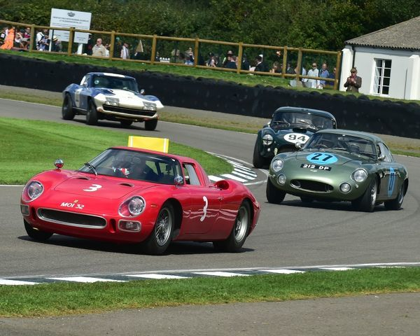 Gary Pearson, Chris Harris, Ferrari 250 LM, Simon Hadfield, Wolfgang Friedrichs, Aston Martin Project 212, RAC TT Celebration, Closed cockpit GT cars, Goodwood Revival 2017, September 2017, automobiles, cars, circuit racing, Classic, competition