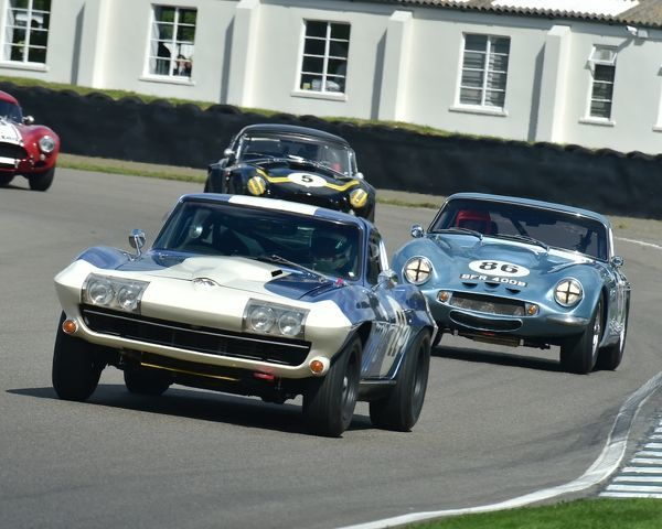 Sam Thomas, Jack Goff, Chevrolet Corvette Stingray C2, Mike Jordan, Mike Whitaker, TVR Griffith 400, RAC TT Celebration, Closed cockpit GT cars, Goodwood Revival 2017, September 2017, automobiles, cars, circuit racing, Classic