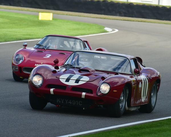 Andrew Hall, Jamie McIntyre, Bizzarrini 5300GT, RAC TT Celebration, Closed cockpit GT cars, Goodwood Revival 2017, September 2017, automobiles, cars, circuit racing, Classic, competition, England, entertainment, event, Goodwood, Goodwood Revival 2017