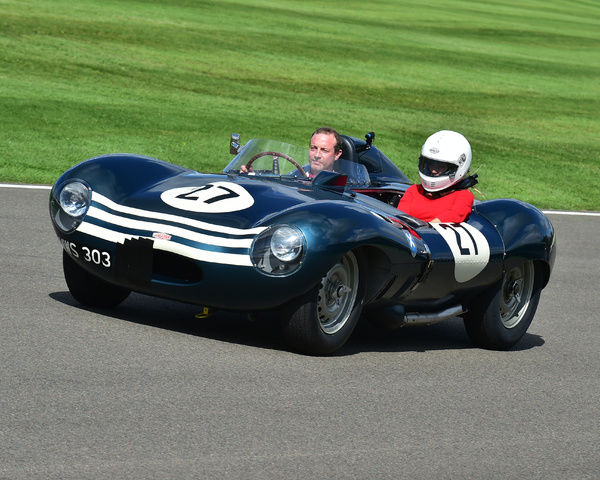 Jaguar D-Type, Ecurie Ecosse, Goodwood Revival 2017, September 2017, automobiles, cars, circuit racing, Classic, competition, England, entertainment, event, Goodwood, Goodwood Revival 2017, heritage, historic, Lord March, motor sport, motorbikes