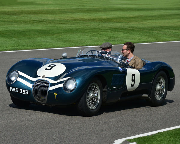 Jaguar C-Type, Ecurie Ecosse, Goodwood Revival 2017, September 2017, automobiles, cars, circuit racing, Classic, competition, England, entertainment, event, Goodwood, Goodwood Revival 2017, heritage, historic, Lord March, motor sport, motorbikes