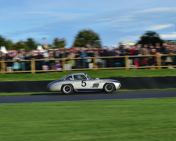 Jochen Mass, Mercedes-Benz 300 SL, Gullwing, Freddie March Memorial Trophy, Sports Racing Cars, Goodwood Revival 2017, September 2017, automobiles, cars, circuit racing, Classic, competition, England, entertainment, event, Goodwood, Goodwood Revival 2017