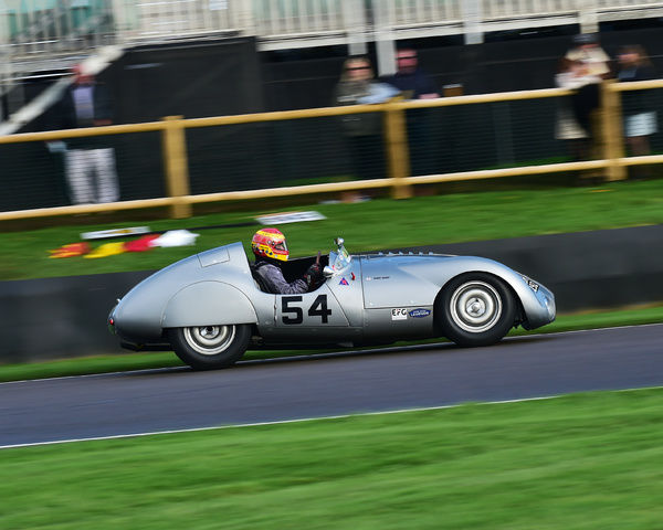 Chris Ward, Cooper Jaguar T33, Freddie March Memorial Trophy, Sports Racing Cars, Goodwood Revival 2017, September 2017, automobiles, cars, circuit racing, Classic, competition, England, entertainment, event, Goodwood, Goodwood Revival 2017