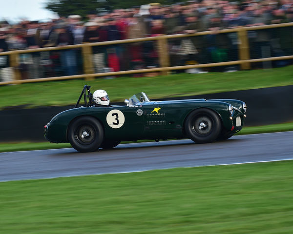 Martin Hunt, HWM Jaguar, Freddie March Memorial Trophy, Sports Racing Cars, Goodwood Revival 2017, September 2017, automobiles, cars, circuit racing, Classic, competition, England, entertainment, event, Goodwood, Goodwood Revival 2017, heritage