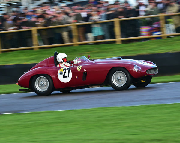 Roberto Crippa, Ferrari 340 MM, Freddie March Memorial Trophy, Sports Racing Cars, Goodwood Revival 2017, September 2017, automobiles, cars, circuit racing, Classic, competition, England, entertainment, event, Goodwood, Goodwood Revival 2017
