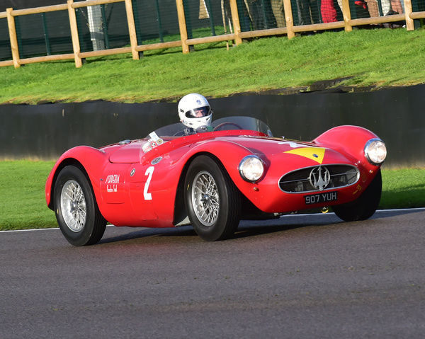 Manuel Elicabe, Maserati A6 GCS, Freddie March Memorial Trophy, Sports Racing Cars, Goodwood Revival 2017, September 2017, automobiles, cars, circuit racing, Classic, competition, England, entertainment, event, Goodwood, Goodwood Revival 2017
