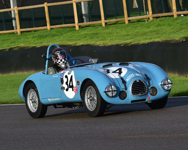 Eddie McGuire, Gordini Type 23S, Freddie March Memorial Trophy, Sports Racing Cars, Goodwood Revival 2017, September 2017, automobiles, cars, circuit racing, Classic, competition, England, entertainment, event, Goodwood, Goodwood Revival 2017
