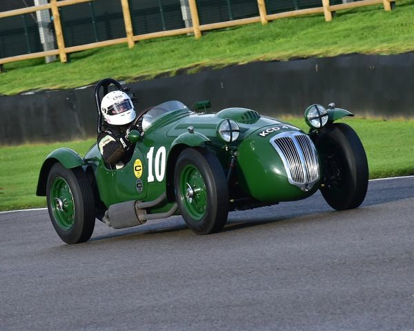 Patrick Blakeney-Edwards, Frazer Nash Le Mans replica, Freddie March Memorial Trophy, Sports Racing Cars, Goodwood Revival 2017, September 2017, automobiles, cars, circuit racing, Classic, competition, England, entertainment, event, Goodwood