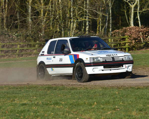 Mark Young, Peugeot 205 Gti, Race Retro, Rally stage, Sunday 24th February, 2019, retro, nostalgia, motorsport, cars, vehicles, racing, classic cars, historic cars, nostalgia, vehicles, cars, rallying, retro, off road, outside, NAEC, National