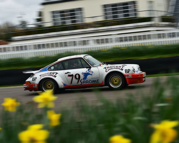 Porsche 911 Carrera RS Tabbert Caravan, Mission Motorsport, 7th Anniversary event, Race, Retrain, Recover, The Forces Motorsport Charity, Goodwood, West Sussex, England, 2nd March 2017, fast cars, cars, vehicles, Track, racing cars