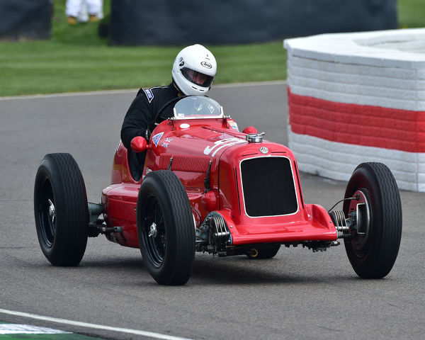 James Ricketts, MG KN Special, Parnell Cup, Grand Prixcars, Voiturette cars, 1935 to 1953, 77th Members Meeting, Goodwood, West Sussex, England, April 2019, Autosport, cars, circuit racing, classic cars, competition, England, fast, Fun, Goodwood