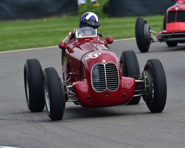 Ewen Sergison, Maserati 6CM, Parnell Cup, Grand Prixcars, Voiturette cars, 1935 to 1953, 77th Members Meeting, Goodwood, West Sussex, England, April 2019, Autosport, cars, circuit racing, classic cars, competition, England, fast, Fun, Goodwood