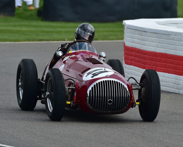 Stephan Rettenmaier, OSCAR Tipo G 4500, Parnell Cup, Grand Prix cars, Voiturette cars, 1935 to 1953, 77th Members Meeting, Goodwood, West Sussex, England, April 2019, Autosport, cars, circuit racing, classic cars, competition