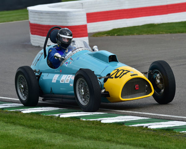 Crispin Harris, AC Bristol Monoposto, Parnell Cup, Grand Prix cars, Voiturette cars, 1935 to 1953, 77th Members Meeting, Goodwood, West Sussex, England, April 2019, Autosport, cars, circuit racing, classic cars, competition, England, fast, Fun