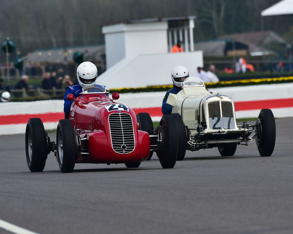 Ivo Noteboom, Maserati 6CM, Parnell Cup, Grand Prix cars, Voiturette cars, 1935 to 1953, 77th Members Meeting, Goodwood, West Sussex, England, April 2019, Autosport, cars, circuit racing, classic cars, competition, England, fast, Fun, Goodwood