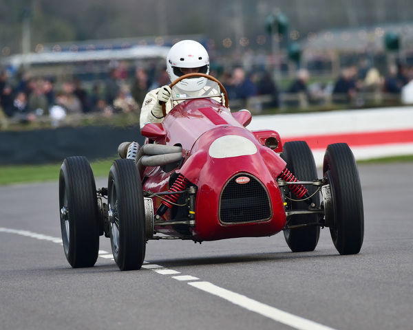 Max Sowerby, Chorlton Alta Special, Bugatti, Parnell Cup, Grand Prix cars, Voiturette cars, 1935 to 1953, 77th Members Meeting, Goodwood, West Sussex, England, April 2019, Autosport, cars, circuit racing, classic cars, competition