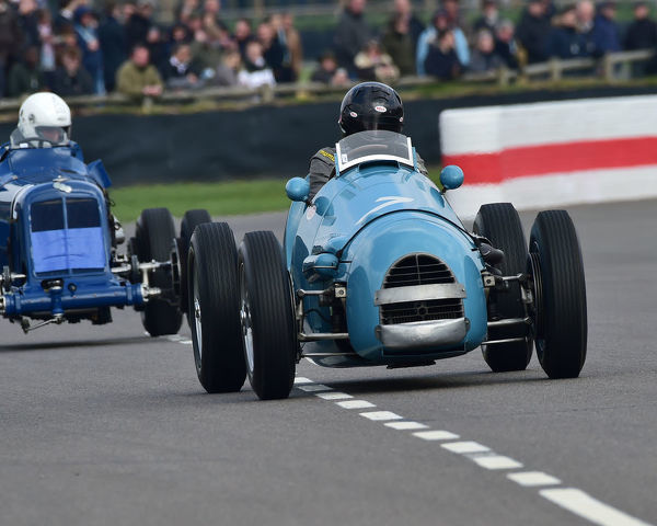 Marc Valvekens, Gordini Type 16, Parnell Cup, Grand Prix cars, Voiturette cars, 1935 to 1953, 77th Members Meeting, Goodwood, West Sussex, England, April 2019, Autosport, cars, circuit racing, classic cars, competition, England