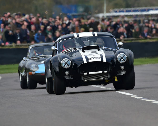 Anthony Reid, Nicolas Minassian, AC Cobra, Graham Hill Trophy, Closed cockpit GT cars, Prototype cars, Spirit of the RAC TT Races 1960-1964, 77th Members Meeting, Goodwood, West Sussex, England, April 2019, Autosport, cars, circuit racing