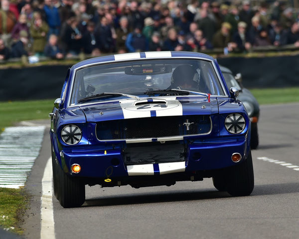 Don Dimitriadis, Chad Parrish, Ford Shelby Mustang GT350, Graham Hill Trophy, Closed cockpit GT cars, Prototype cars, Spirit of the RAC TT Races 1960-1964, 77th Members Meeting, Goodwood, West Sussex, England, April 2019, Autosport