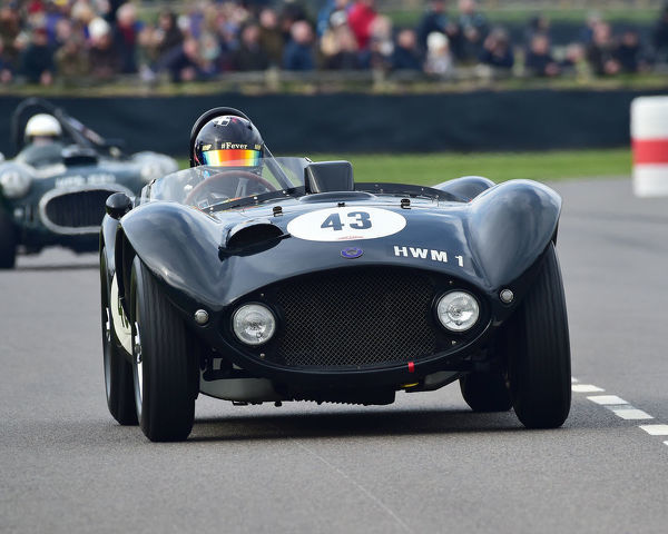 Gregor Fisken, HWM Jaguar, Peter Collins trophy, Sports Racing Cars, 1948 to 1955, 77th Members Meeting, Goodwood, West Sussex, England, April 2019, Autosport, cars, circuit racing, classic cars, competition, England, fast, Fun