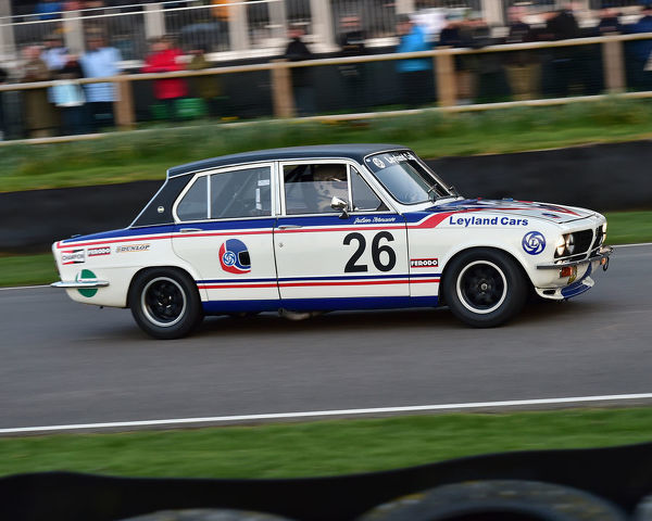 Simon Drabble, Guy Smith, Triumph Dolomite Sprint, Gerry Marshall Trophy, Group 1 Saloon cars, 1970 to 1982, 77th Members Meeting, Goodwood, West Sussex, England, April 2019, Autosport, cars, circuit racing, classic cars, competition