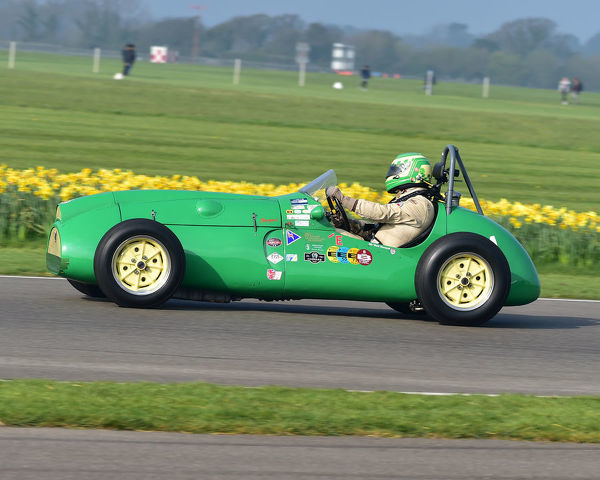 Steve Russell, Cooper Bristol Mk2 T23, Parnell Cup, Grand Prixcars, Voiturette cars, 1935 to 1953, 77th Members Meeting, Goodwood, West Sussex, England, April 2019, Autosport, cars, circuit racing, classic cars, competition, England