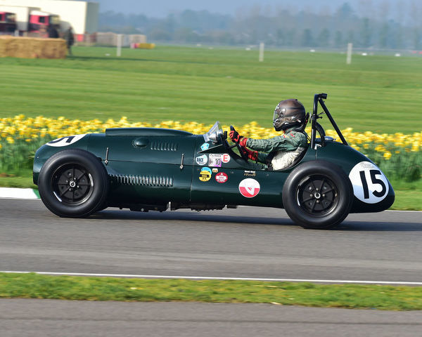 Eddie McGuire, Cooper Bristol Mk1 T20, Parnell Cup, Grand Prix cars, Voiturette cars, 1935 to 1953, 77th Members Meeting, Goodwood, West Sussex, England, April 2019, Autosport, cars, circuit racing, classic cars, competition, England