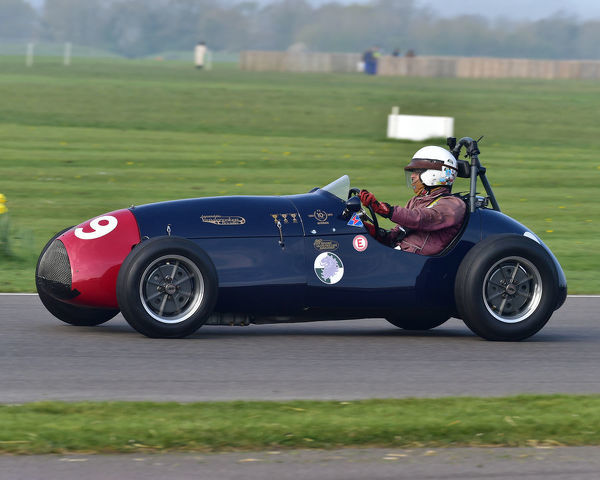Paul Grant, Cooper Bristol Mk2 T23, Parnell Cup, Grand Prixcars, Voiturette cars, 1935 to 1953, 77th Members Meeting, Goodwood, West Sussex, England, April 2019, Autosport, cars, circuit racing, classic cars, competition, England