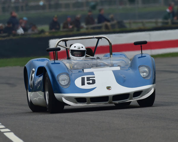 Harms Winter, McLaren Chevrolet M1A, Gurney Cup, Sports Prototypes, 1960 to 1966, 77th Members Meeting, Goodwood, West Sussex, England, April 2019, Autosport, cars, circuit racing, classic cars, competition, England, fast, Fun