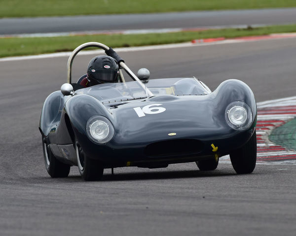 Marc Valvekens, Lola Mk1, Stirling Moss Trophy, pre-61 sports cars, Donington Historic Festival, May 2019, motor racing, motor sport, motorsport, Nostalgia, racing, racing cars, retro, cars, classic cars, classic event, Classic Racing Cars, DHF