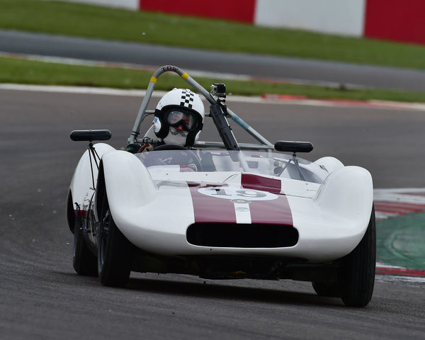 Ralf Emmerling, Phil Hooper, Elva Mk5, Stirling Moss Trophy, pre-61 sports cars, Donington Historic Festival, May 2019, motor racing, motor sport, motorsport, Nostalgia, racing, racing cars, retro, cars, classic cars, classic event, Classic Racing Cars