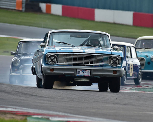 Chris Clarkson, David Smithies, Ford Falcon Sprint, HRDC Coys Trophy, Touring Cars 1958 to 1966, Donington Historic Festival, May 2019, motor racing, motor sport, motorsport, Nostalgia, racing, racing cars, retro, cars, classic cars, classic event