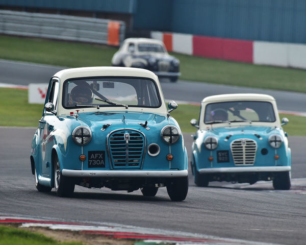 Ben Colburn, Austin A35 Academy, HRDC Coys Trophy, Touring Cars 1958 to 1966, Donington Historic Festival, May 2019, motor racing, motor sport, motorsport, Nostalgia, racing, racing cars, retro, cars, classic cars, classic event, Classic Racing Cars