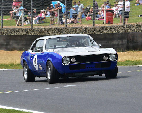 Barry Robinson, Tom Robinson, Chevrolet Camaro, Bernies V8s, Classic US Muscle Cars, American Speedfest VII, Brands Hatch, June 2019, automobiles, Autosport, cars, circuit racing, England, entertainment, Kent, motor racing, motor sport, motorracing