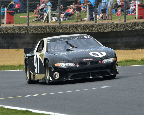 Andrew Knight, Pontiac ASCAR, Bernies V8s, Classic US Muscle Cars, American Speedfest VII, Brands Hatch, June 2019, automobiles, Autosport, cars, circuit racing, England, entertainment, Kent, motor racing, motor sport, motorracing
