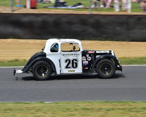 Tom Grainger, Legend 34 Ford Coupe, Legends Cars Championship, 5/8th scale racers, pre-war body shapes, 1250cc Yamaha engines, American Speedfest VII, Brands Hatch, June 2019, automobiles, Autosport, cars, circuit racing, England