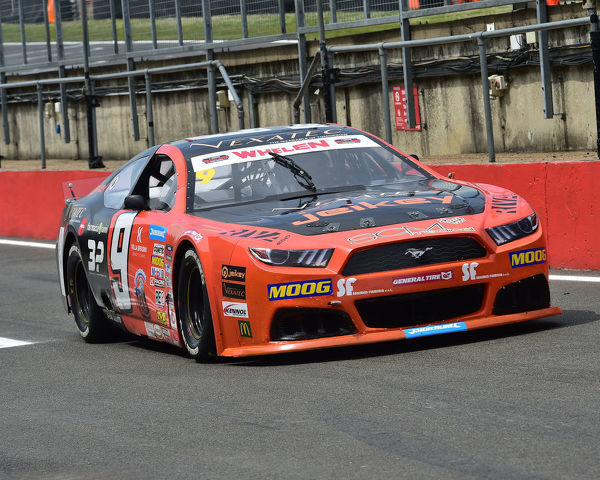 Gianmarco Ercoli, Ford Mustang, Elite 1, NASCAR Euro series, American Speedfest VII, Brands Hatch, June 2019, automobiles, Autosport, cars, circuit racing, England, entertainment, European, Kent, motor racing, motor sport, motorracing, racing
