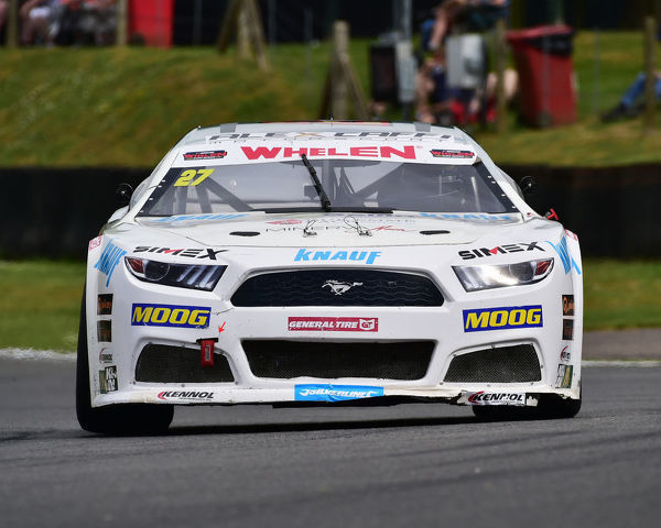 Pierluigi Veronesi, Ford Mustang, Elite 2, NASCAR Euro series, American Speedfest VII, Brands Hatch, June 2019, automobiles, Autosport, cars, circuit racing, England, entertainment, European, Kent, motor racing, motor sport, motorracing, racing