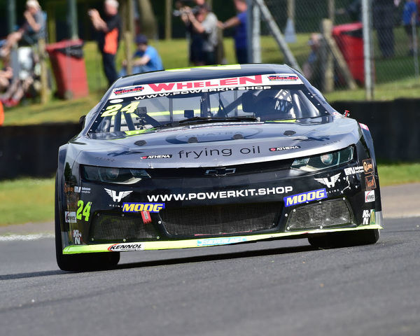Andre Castro, Chevrolet Camaro, Elite 2, NASCAR Euro series, American Speedfest VII, Brands Hatch, June 2019, automobiles, Autosport, cars, circuit racing, England, entertainment, European, Kent, motor racing, motor sport, motorracing