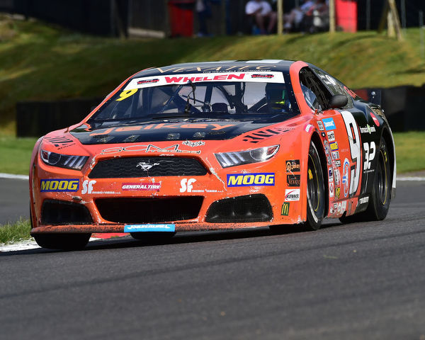 Vittorio Ghirelli, Ford Mustang, Elite 2, NASCAR Euro series, American Speedfest VII, Brands Hatch, June 2019, automobiles, Autosport, cars, circuit racing, England, entertainment, European, Kent, motor racing, motor sport, motorracing