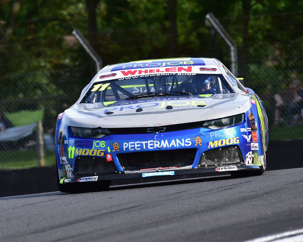 Freddy Nordstrom, Chevrolet Camaro, Elite 2, NASCAR Euro series, American Speedfest VII, Brands Hatch, June 2019, automobiles, Autosport, cars, circuit racing, England, entertainment, European, Kent, motor racing, motor sport