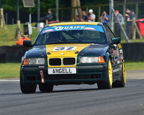 Ken Angell, BMW 328i, Bernies V8s, Classic US Muscle Cars, American Speedfest VII, Brands Hatch, June 2019, automobiles, Autosport, cars, circuit racing, England, entertainment, Kent, motor racing, motor sport, motorracing, racing, track racing