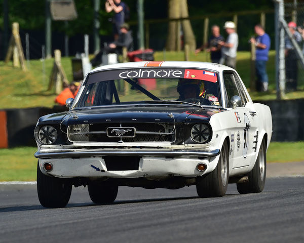 Max Boodie, Ford Mustang, Bernies V8s, Classic US Muscle Cars, American Speedfest VII, Brands Hatch, June 2019, automobiles, Autosport, cars, circuit racing, England, entertainment, Kent, motor racing, motor sport, motorracing