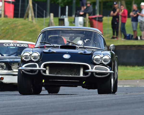 Simeon Chodosh, Adam Chodosh, Chevrolet Corvette, Bernies V8s, Classic US Muscle Cars, American Speedfest VII, Brands Hatch, June 2019, automobiles, Autosport, cars, circuit racing, England, entertainment, Kent, motor racing, motor sport