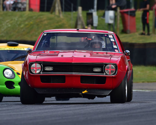 Simon Lane, Chevrolet Camaro, Bernies V8s, Classic US Muscle Cars, American Speedfest VII, Brands Hatch, June 2019, automobiles, Autosport, cars, circuit racing, England, entertainment, Kent, motor racing, motor sport, motorracing