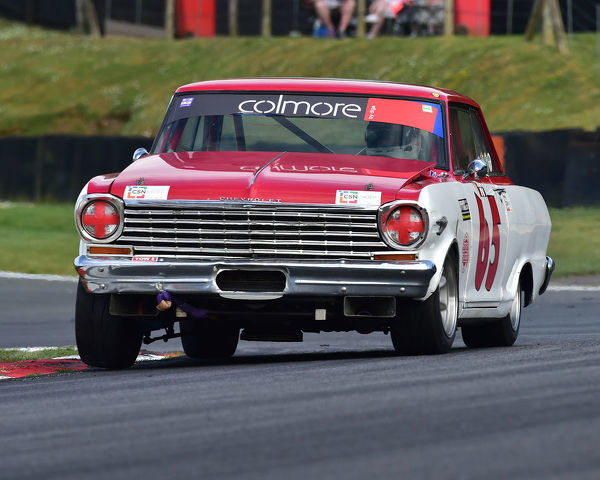 Jonathan Du Toit, Chevrolet Nova, Bernies V8s, Classic US Muscle Cars, American Speedfest VII, Brands Hatch, June 2019, automobiles, Autosport, cars, circuit racing, England, entertainment, Kent, motor racing, motor sport, motorracing