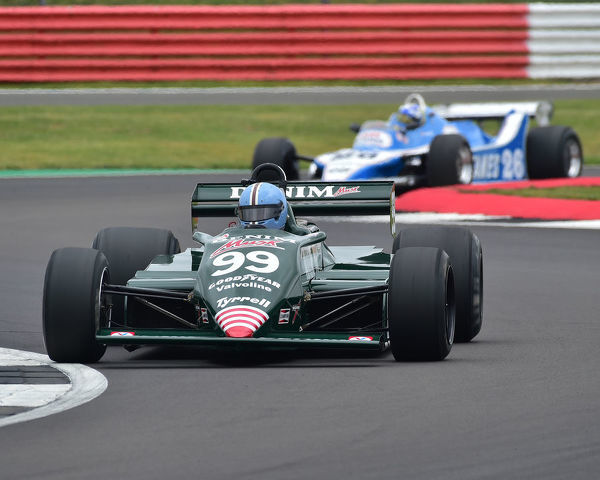 Jamie Constable, Tyrrell 011, Sir Jackie Stewart Trophy for FIA Masters Historic Formula One, Silverstone Classic, July 2019, Silverstone, Northamptonshire, England, circuit racing, cjm-photography, Classic Racing Cars, competition