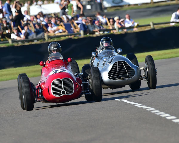 Stephan Rettenmaier, Maserati 4CLT, Duncan Ricketts, Parnell Challenger, Goodwood Trophy, Grand Prix cars, Voiturette, 1930 to 1951, Goodwood Revival 2019, September 2019, automobiles, cars, circuit racing, Classic, competition