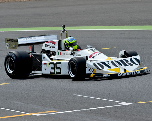 Aaron Scott, March 761, Silverstone Classic 2014, 2014, Classic Racing Cars, F1, FIA, Ford, Formula 1, Grand Prix cars, Historic Formula One, Historic Grand Prix Cars, historic racing cars, HSCC, July 2014, Masters Series, motor racing, motorsport